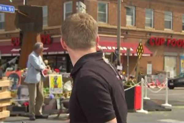 Article image for Live cross on American TV interrupted by dramatic shooting