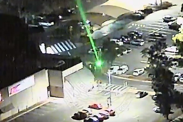 Article image for VIDEO   Police warn of dangers of laser strikes on aircraft