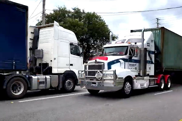 Article image for WATCH | Trucks plaguing suburban Sydney streets