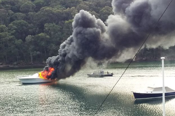 Article image for PHOTOS | Pittwater yachts destroyed in diesel fire