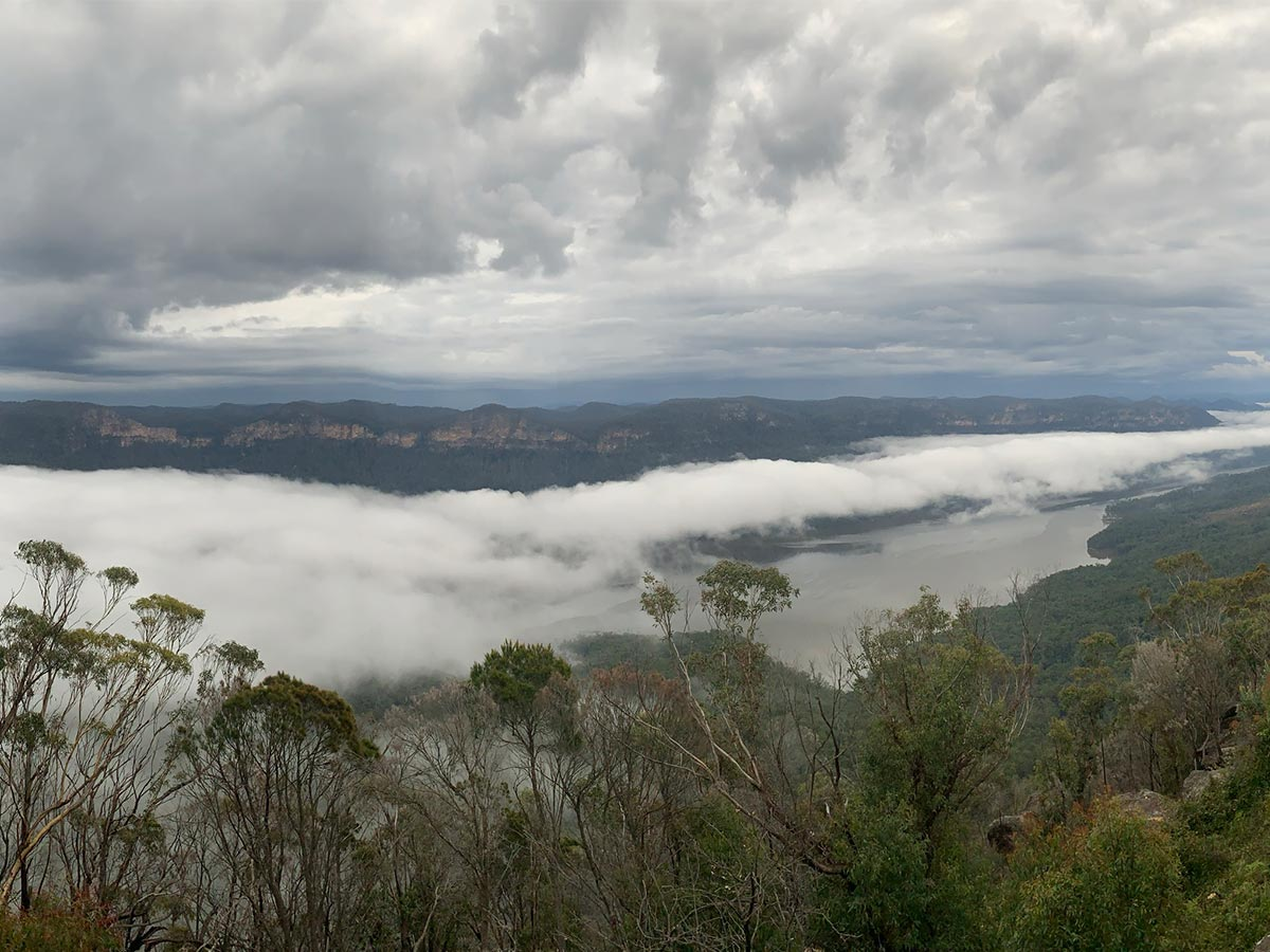 Listener shares beautiful photo of mist over Warragamba Dam