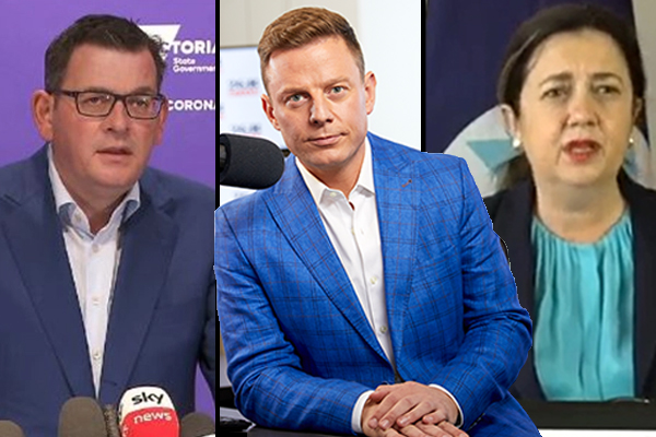 'Gladys is wrong': Ben Fordham sides with Daniel Andrews and QLD Premier