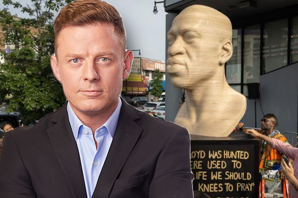 Article image for 'America has lost the plot': Statues of George Floyd erected