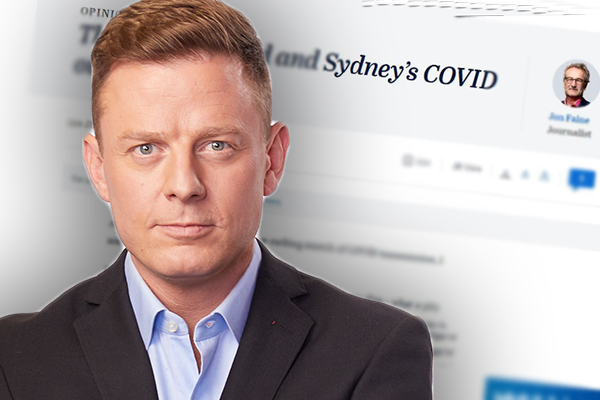 Article image for Ben Fordham tears into Melbourne journalist's 'twisted' swipe at Sydney