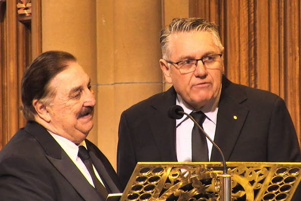 Article image for Ray Hadley farewells Bob Fulton in touching tribute at state funeral