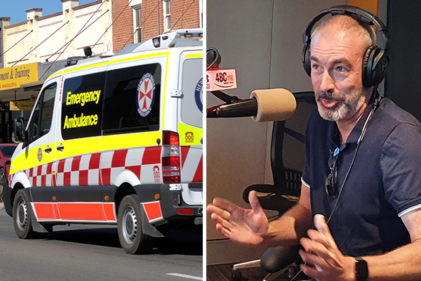 Former Wiggle Greg Page calls in with message of support for ambos