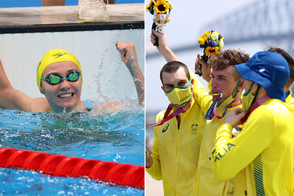 Article image for Day five full of golden moments for 'extraordinary' Australian Olympians