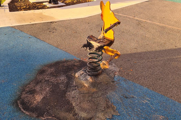 Article image for 'I can't believe this': Ben Fordham slams 'scumbag' torching memorial