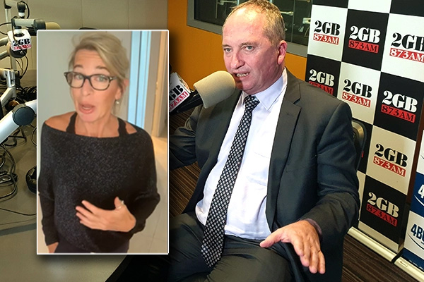 Article image for 'Get out': Barnaby Joyce tears into conservative commentator over COVID breach