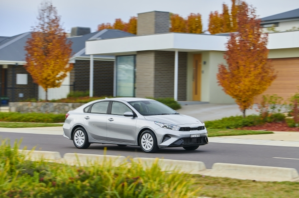Kia's small updated Cerato updated feels more medium sized.