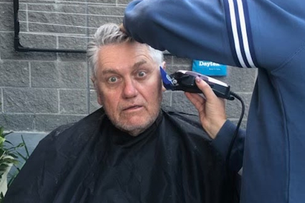Article image for The big reveal: Ray Hadley's wife gives him a fresh haircut