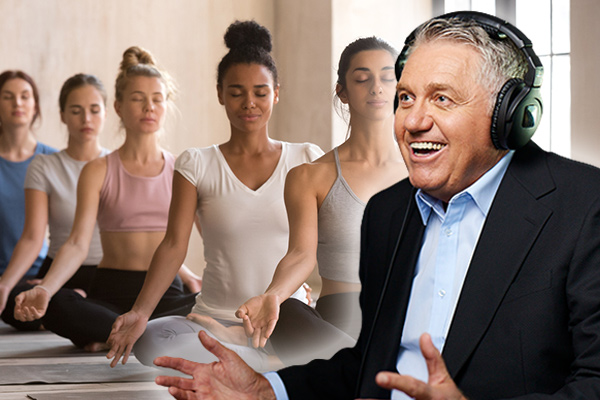 The real story behind Ray Hadley's impromptu ladies' yoga session