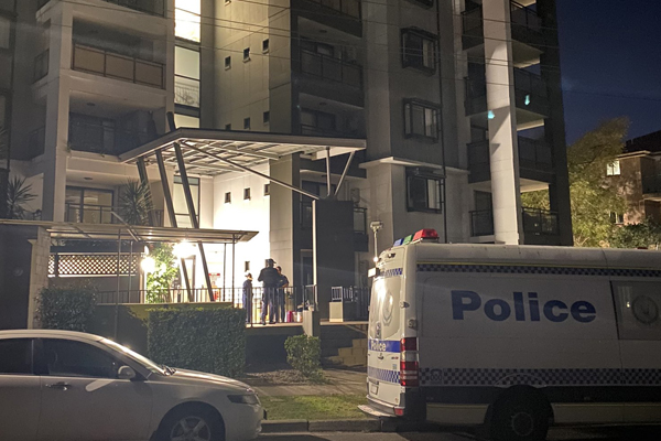 'It's a bit scary': Resident reacts as NSW Police guard western Sydney unit block