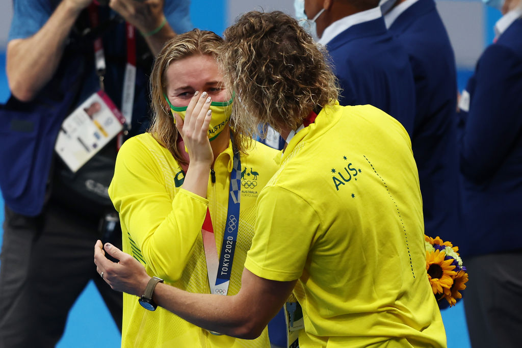 Article image for 'Classic Dean': Olympic champion Ariarne Titmus addresses coach's viral moment
