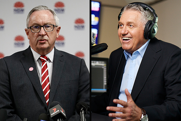 Article image for Brad Hazzard backs Ray Hadley's message to his listeners