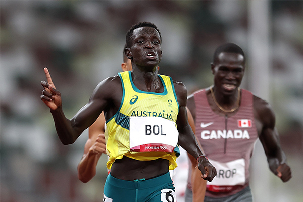 Australian athlete Peter Bol shoots for Olympic glory in sport he never knew existed