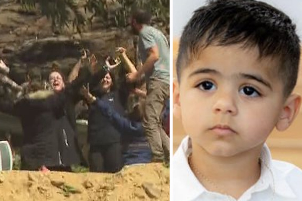 Article image for 'Overwhelming relief' as missing three-year-old boy found!