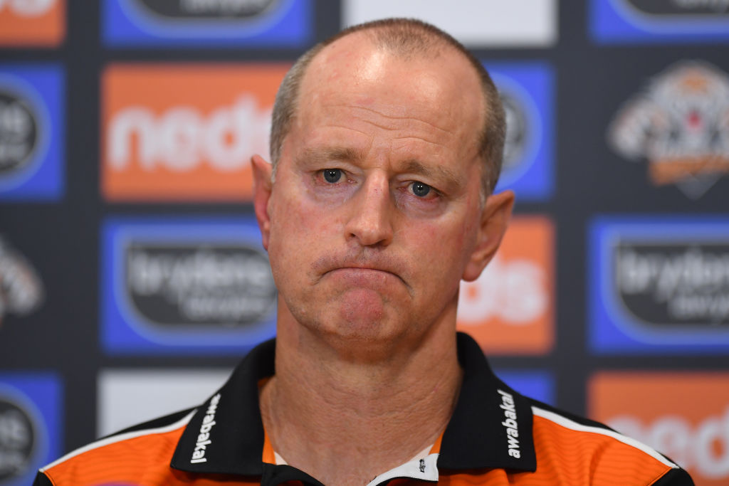 Article image for Tigers chairman denies joining push to oust Michael Maguire amid 'messy' yearly review