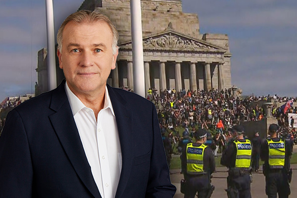 Article image for Jim Wilson blasts 'foolish extremists' storming Melbourne's Shrine of Remembrance
