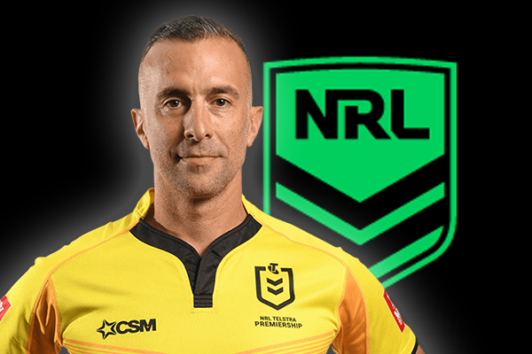 Article image for 'A done deal': Beloved NRL referee Matt Cecchin hangs up his whistle after Cronulla call