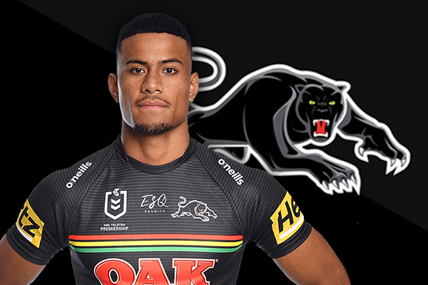 Article image for Penrith Panthers star's plan to 'break' slippery Eel in battle of the west
