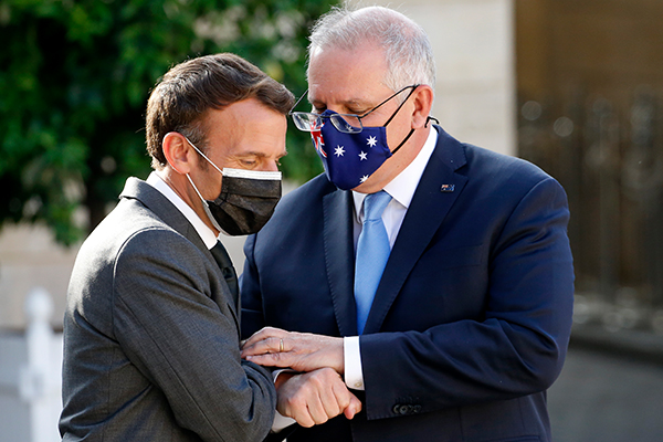 Article image for 'It's not you, it's me': Is it time for couples therapy for Morrison and Macron?