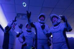 Spacewalking next door for sugar 'not that far away' as civilian launch makes history