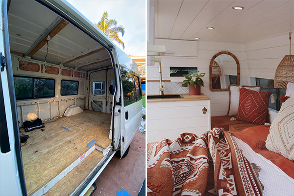 Article image for From transit van to home away from home: Couple's radical transformation