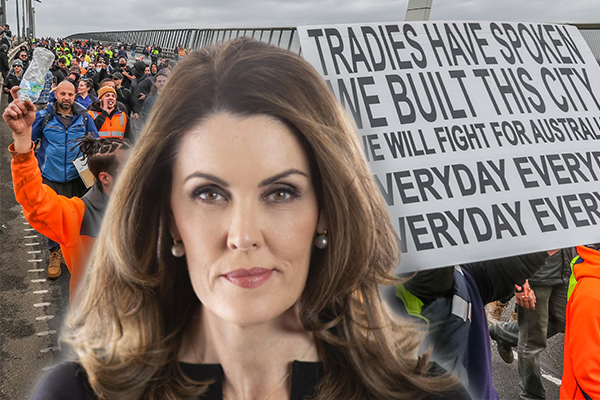 Article image for 'A bridge too far': Peta Credlin empathises with tradie protesters' cause
