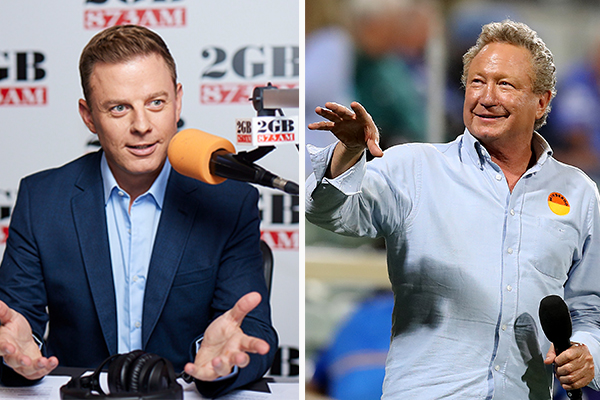 Article image for Ben Fordham grills Andrew 'Twiggy' Forrest on green energy push