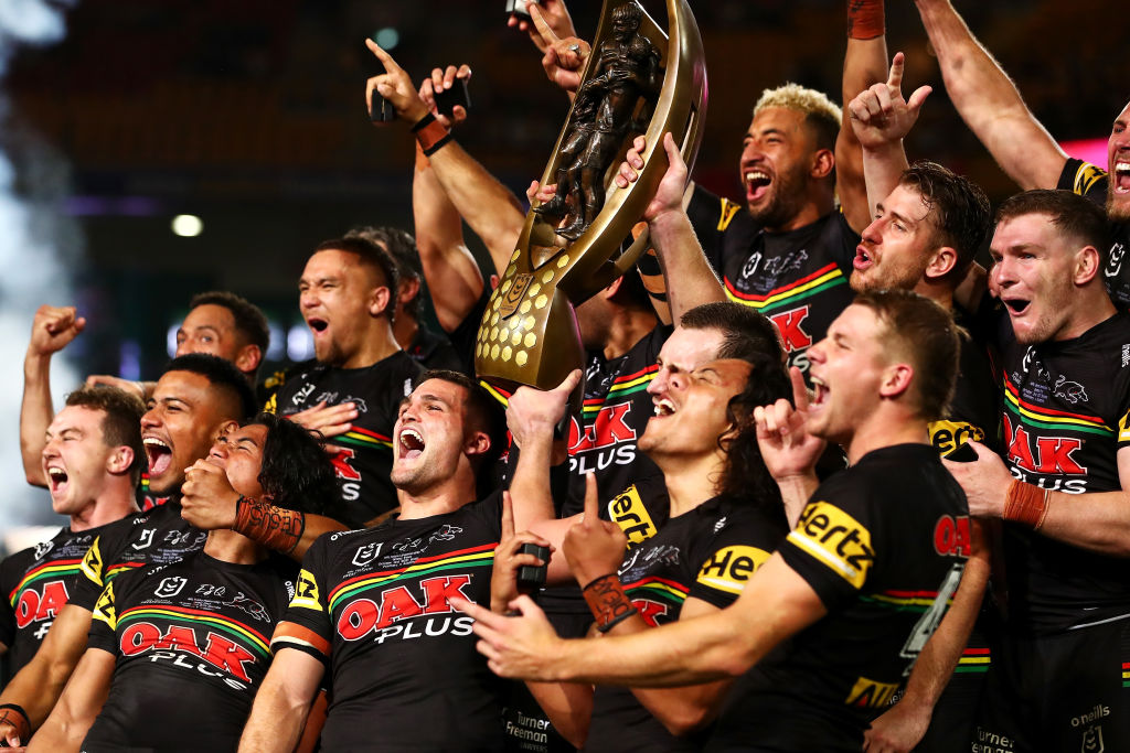 Article image for Club legends celebrate as Penrith Panthers break 18-year Premiership drought