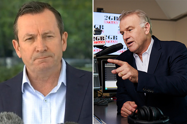 Article image for Jim Wilson hits back at 'COVID bully' Mark McGowan's 'shameless' dig