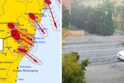 Suspected tornado bears down as hail batters Sydney's west