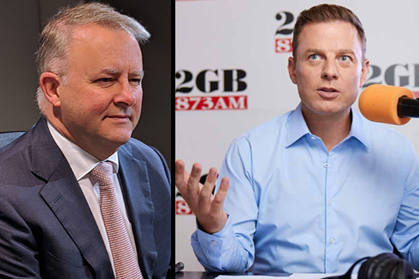 Article image for Ben Fordham's fiery clash with Anthony Albanese over branch stacker