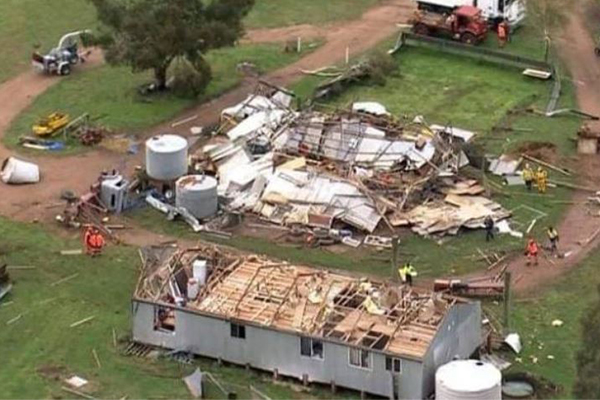 Article image for Farmer describes unbelievable moment tornado swept through his home